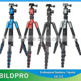 BILDPRO CNC Forging Tripod Professional Video Camera Stand 360 Degree Fluid Pan Head Tripod