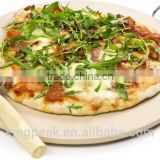 2015 Best Selling 33cm Pizza Stone Set With Heavy Duty Chrome Stand Includes Pizza Cutter/Non stick Pizza Pan