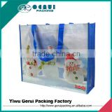 Fancy Christmas PP woven bag for gift,PP woven Christmas promotional bag,pp woven Christmas advertising bag