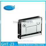 European Shower Door Pivot Hinge Adjustable Bevel Circinal Angle 360 Degree Rotating Glass Clamp