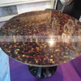 natural glossy pen shell mosaic mother of pearl tile inlay table top