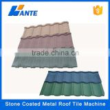 High quality aluminum zinc plate colorful stone coated metal roof tile machine, steel roofing matetial