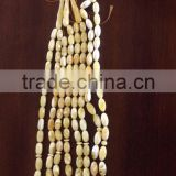 Natural Baltic Amber prayer beads, Amber Islamic Muslim rosay Tasbih size 10mm white color