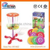 PLASTIC DISC GOLF BASKET DISCS TARGET GAME SET FOR KIDS