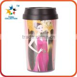 Double wall plastic travel mug, auto mug,Stainless Steel Coffee Mixing Cup Self Stirring Mug
