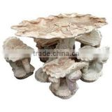 Marble Table Home Furniture Hand Sculpture Carving Stone Outdoor, Garden, Home, Restaurant and Hotel