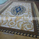Decorative Handmade Carpets With Floral Pattern