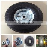 China supply of standard quality 10 inch rubber pneumatic wheel for trolley
