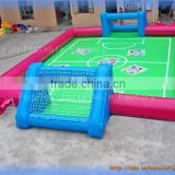 Funny PVC team sports game inflatable human foosball fields