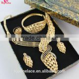 wholesale Ladies fashion necklace bridal jewelry 18k gold plated jewelry sets african wedding jewelry