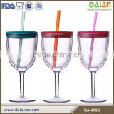 2014 newest 10 oz plastic insulated wine tumbler