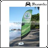 100% waterproof polyester promotional printed flags, swooper beach feather flag for sale