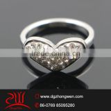 micro pave setting wedding ring stainless steel rings
