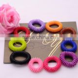 >>>2016 top selling cheap fashion kids plastic telephone wire hair ropes/