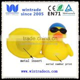eco-friendly PVC Material Yellow Weighted Rubber Duck