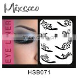 2016 Black Sexy Temporary Eye Tattoo Eyelid Transfer Eyeliner crystal eye tattoo stickers