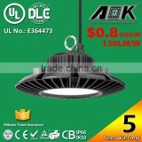 UL cUL DLC TUV SAA CB CE Listed Aluminium Body 130lm/w AOK 200W 150W Industrial LED Highbay Light