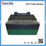 18 holes lithuium powered electric golf trolley battery