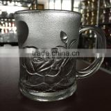 2015 new design glass tea cup glass tea mug glass drinking cup glass water cup