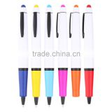 High Quality Promotional Custom Logo Plastic Colorful Stylus Tip Ball-Point Pen Multi-purpose Tool Ballpoint Pens