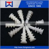 Nylon plastic self drilling drywall anchor with screw