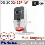 DS-2CD2432F-IW mini digital camera wireless WIFI ip camera with pir detection Built-in microphone DWDR & 3D DNR & BLC