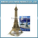 3D Diy Puzzle for World Architecture Eiffel Tower Model