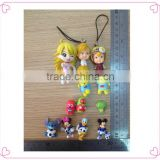 Key chain PVC small plastic miniature cute figure toy manufacture anime movies 3D action figurine OEM&ODM Custome cartoon Figure