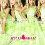 StyleMW0151 New Arrival Organza Crystal Ball Gown Cheap Girl Pageant Dresses for Sale