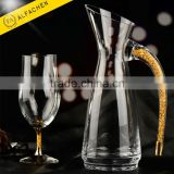 24 Carat Gold Stem Hight Quality Crystal Long Drinking Glass Island Iced Tea Highball Glasses