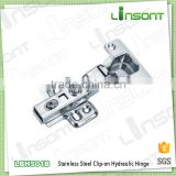Good quality hydraulic clip on stainless steel 304 hinges furniture assembly hardware conceal hinge