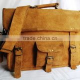 2571 Hot Selling Brown Suede Leather Unisex Crossbody Messenger Bag