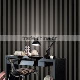 black striped non woven fabric wallpaper with eco-friendly material