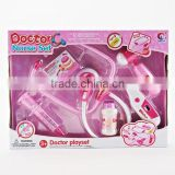 hot sale! girls beauty toy Funny kid doctor play set with light toy gift Medical toy include battery TD15080004