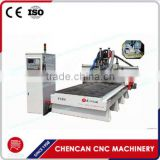 China 3Axis Cutting Saw 1325 ATC HSD Spindle CNC Router Machine Wood Machine with Rotary