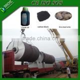 Low Sulfur Oil Output Continuous Waste Tire Oil Pyrolysis Plant