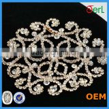 2016 Yiwu factory direct new design fancy crystal rhinestone trimming mesh for decoration