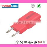 Factory price ! 5V2.4A Dual port travel charger AC DC adapter home USB charger with UL FCC CE approval