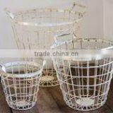 Shabby Chic storage Basket, Wire Basket for fruit and vegetable