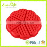 Waffle Cookie Silicone Mold Breakfast Cake Biscuit Novelty Pan Icing Fondant Mould Kitchen Bakeware
