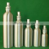180ml Aluminium bottle with plastic lotion spray pump