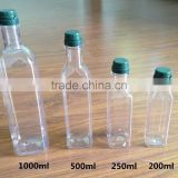 ANTIQUE CLEAR/GREEN SQUARE PLASTIC COOKING OIL BOTTLE 200ML 250ML 500ML 1000ML