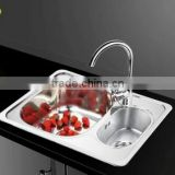 Factory directly Stainless steel 304 double groove kitchen xiancai basins sink sink drawing