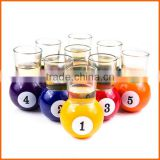 Hot sales customized clear ball shot glass