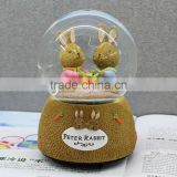 Cute peter rabbits souvenirs gifts wedding favors snow globe