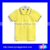 child clothing polo shirt new fashion yellow blank kids polo shirt made in china