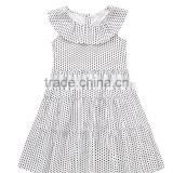 Wholesale Baby Clothes Boutique Design Kids Polka Dot Dress Cotton Girl Party Wear Dresses