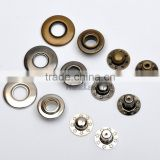 20mm 4 part brass metal button bubble snap button Italy snap fasteners black/nickle/Bronze FP-029