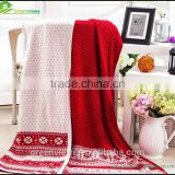 Jacquard weavecashmere cable knit luxury knit throw blanket for sofas Woven Technics blanket sheet cover