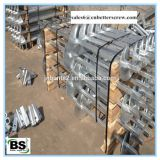 Steel square lead helical anchor for foundation support